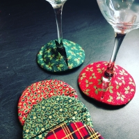 Handmade Christmas Wine Cosies