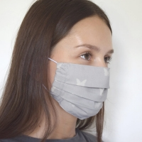 Organic Cotton Pleated Face Mask