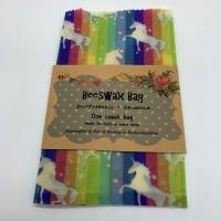 Beeswax Snack Bag - Unicorns (Medium)