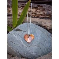 Repurposed Copper Heart Charm Necklace Bracelet