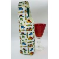 Bottle Gift Bag - Surf design