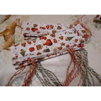Make Your Own Christmas Cracker (Cream with Green Twine)