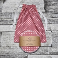 Reusable Makeup Remover Pads with optional Storage/Wash Bag - Deep Rose Polka Dot