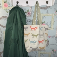 Reusable Cotton Tote Bag - Foxes