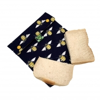 Reusable sandwich bag bee print