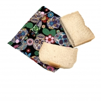 Reusable sandwich bag skull print