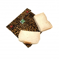Reusable sandwich bag leopard print