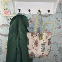 Reusable Cotton Tote Bag - Birdhouse