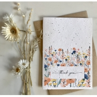 Thank You - Plantable Card - Meadow Style