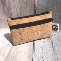 Coin purse, cork fabric