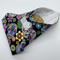Reusable Sandwich Wrap - Skulls and Flowers