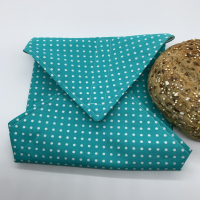 Reusable Sandwich Wrap - Polka Dots Blue