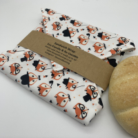 Reusable Sandwich Wrap - Foxes