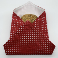 Reusable Sandwich Wrap - Polka Dots Red