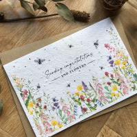 Sending Congratulations and Flowers - Plantable Card