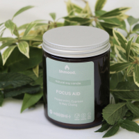 Focus Aid   Peppermint, Cypress & May Chang Candle (180g)