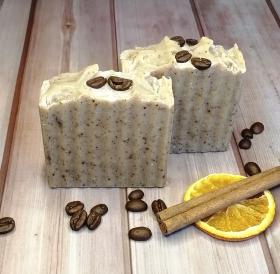Exfoliating Coffee, Orange, Cinnamon & Cedarwood Artisan Soap