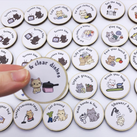 Chore and Routine Magnet Tokens