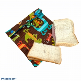 Reusable sandwich bag - dinosaur
