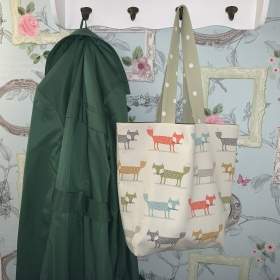 Reusable Cotton Tote Bag - Foxes