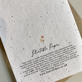 Mix & Match Any 3 Plantable Cards - Seed Paper Cards