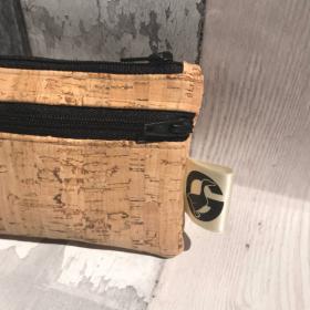 Coin purse, cork fabric