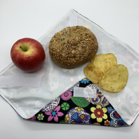 Reusable Sandwich Wrap - Blue Floral