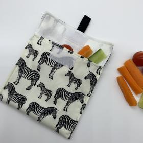 Reusable Snack Bag - Zebra