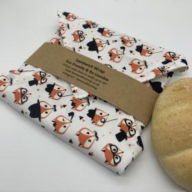 Reusable Sandwich Wrap - Foxes