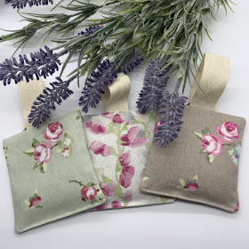 Hanging Lavender Sachet Rosebuds/Green