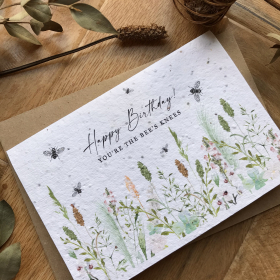 You're The Bee's Knees - Plantable Birthday Card
