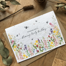 Blooming Lovely Birthday - Plantable Card