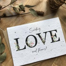 Sending Love - Plantable Card
