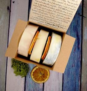 Gift box: set of 3 Natural, Vegan, Palm Oil free Soaps