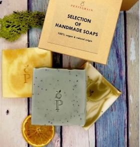 Gift Box of 3 Natural Soaps
