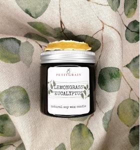 Aromatherapy Eucalyptus & Lemongrass soy wax candle