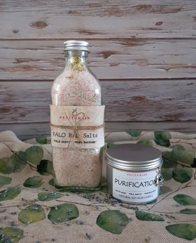 Relaxing Spa Bath Salts with essential oils and herbs